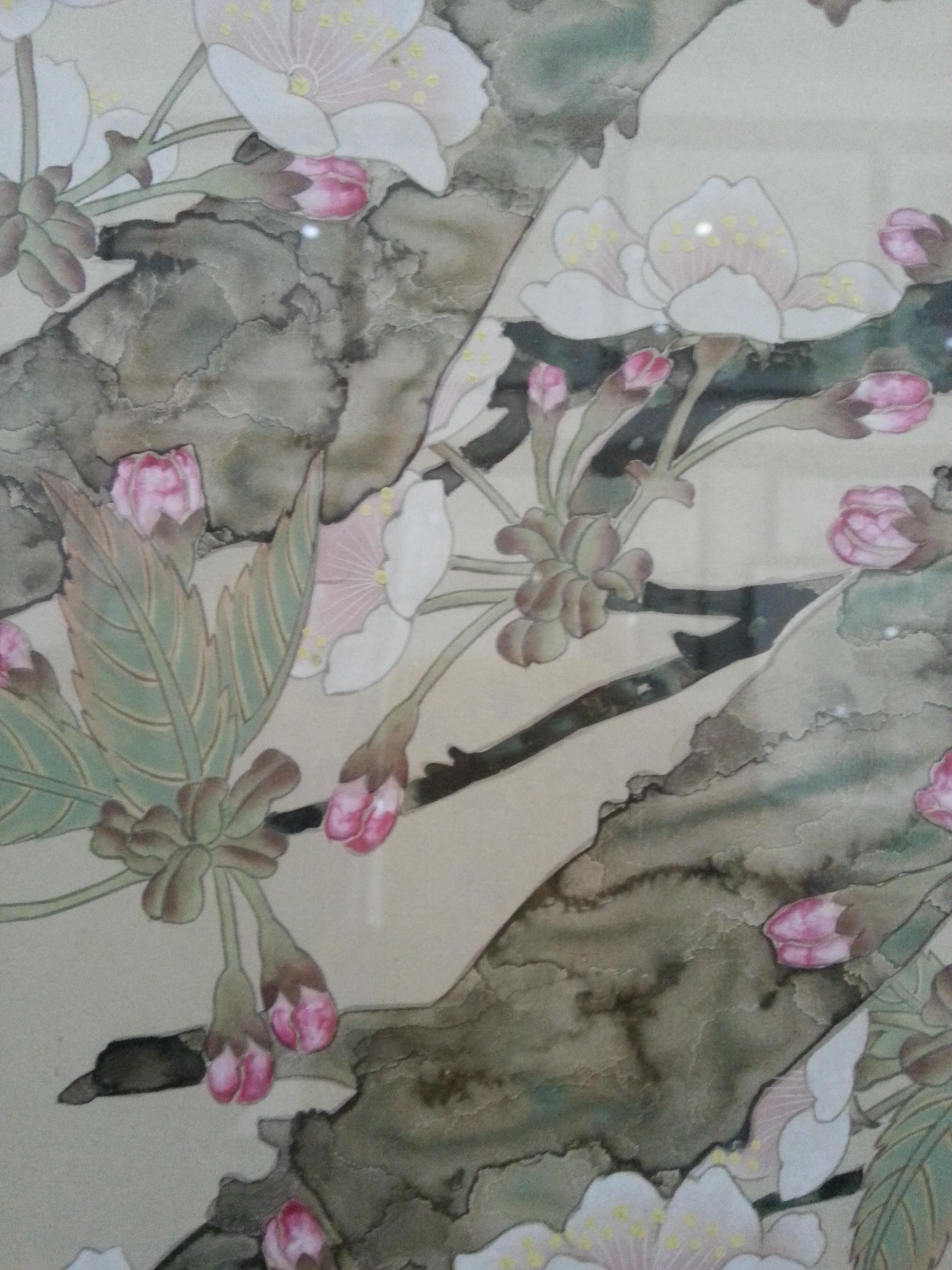 王文明工笔画《海棠小鸟》作品拍卖